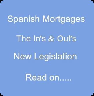 Spanish Mortgages Legislation