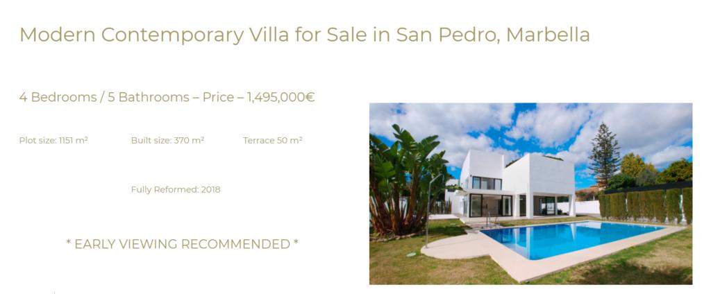 Villa for sale San Pedro Marbella